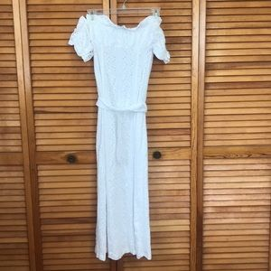 ASOS Petite Dresses - Off the shoulder maxi white dress with belt